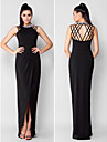 TS Couture® Formal Evening Dress - Black Plus Sizes / Petite Sheath/Column Jewel Asymmetrical Chiffon