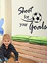 Jouer au football sticker mural PVC