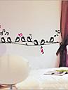 petits oiseaux sticker mural PVC amovible environnement