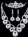 Shine Ladies\'/Women\'s Alloy Wedding/Party Jewelry Set With Rhinestone