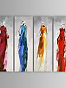 oljemålning moderna abstrakta människor handen målade med sträckt ram uppsättning av 4