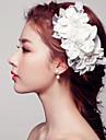 Damen / Blumenmaedchen Spitzen / Perle Kopfschmuck-Hochzeit / Besondere Anlaesse / Freizeit Haarkaemme / Haarklammer 1 Stueck Weiss Blume