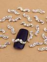 10PCS White Nail Art Jewelry AB Rhinestones Beard Aryclic Nail Tips Decorations Nail Art Stud for Nails
