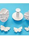 patru-c taietoare fluture tort de piston, unelte fondante de înaltă calitate, instrumente de tort de tăiere patiserie stabilite