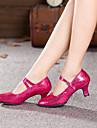 Chaussures de danse (Noir/Bleu/Rose/Gris) - Non personnalisable - Talon Large - Paillette - Moderne