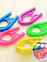 ny resa bärbara vikbara gånger plastklädhängare krok torkställning (slumpmässig färg)