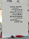 Wall Stickers väggdekaler, engelska ord&citerar pvc väggdekorationer
