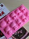 bakeware silikon bakning formar för chokladkaka gelé (slumpmässiga färger)