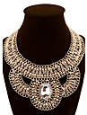 Gold Layered Ethnic Statement Necklace Vintage Rhinestone Big Collares Choker Gypsy Indian Crystal Necklace For Women Fashion Jewelry