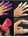 10st plast återanvändbar keeper nagellack suga upp klipp lock remover wrap (färg slumpmässigt leverans)