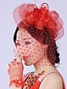Mujer Saten / Cuero / Tul Celada-Boda Flores Rojo
