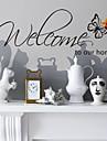 stickers muraux Stickers muraux, de style Accueil Bienvenue mots anglais&cite muraux PVC autocollants