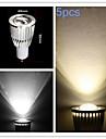 9W GU10 Spot LED MR16 COB 700-750 lm Blanc Chaud / Blanc Froid Gradable AC 100-240 / AC 110-130 V 5 pieces