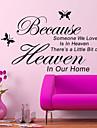 eftersom någon vi älskar är i himlen vägg dekal zooyoo8128 dekorativa flyttbar vinylväggklistermärke
