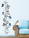 Vine Flowers Wall Decals 35*140cm Waterpoof Wall Sticker Home Decorations Zooyoo8258 Bedroom Wall Art