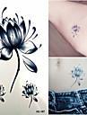 1 Tatouages Autocollants Series de fleur Non Toxique Bas du Dos ImpermeableEnfant Homme Femme Adulte Adolescent Tatouage Temporaire