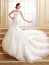 Trumpet / Mermaid Petite Wedding Dress Court Train Sweetheart Tulle with