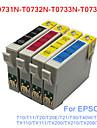 bloom®t0731n-t0734n kompatibel bläckpatron för Epson T10 / T20 / T21 / T30 / t40w / TX100 / TX200 / tx210 fullt bläck (4 färg 1 set)