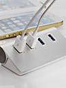 hög kvalitet flisa USB 3.0-hubb 4 portar splitter adapter aluminium nav för PC laptop