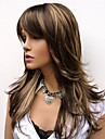 Natural Long Alice Turned Brown with Golden Highlights Wig For Woman