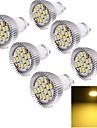 7W GU10 Spot LED 15 SMD 5630 700 lm Blanc Chaud Decorative AC 85-265 V 6 pieces
