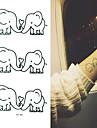 3 Tatouages Autocollants Series animales Non Toxique Motif Bas du Dos ImpermeableEnfant Homme Femelle Femme Adulte Male Adolescent