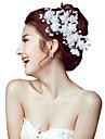 Femei Perle Cristal Aliaj Diadema-Nuntă Ocazie specială Exterior Cordeluțe Flori Ac de Păr 2 Piese