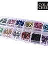 2000PCS colore ongles rond 2MM Acrylique Art Decorations