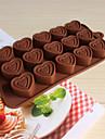 bakeware silikonhjärtformade bakning formar för choklad