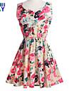 ZAY Women\'s Summer Cool Beatiful Print Sleeveless Slim  Dress