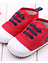 Garcon Fille-Exterieure Habille Decontracte-Rouge BlancPremieres Chaussures-Ballerines-Tissu