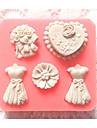 bakeware silikon klänning bakformar för fondant godis chokladkaka
