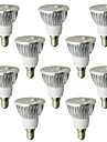 6W E14 Spot LED 4 LED Haute Puissance 530-580 lm Blanc Chaud AC 100-240 V 10 pieces