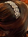 Femei Fata cu Flori Aliaj Diadema-Nuntă Ocazie specială Piepteni de Păr 1 Bucată