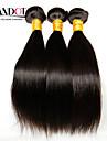 """4 st lot 8 """"-28"""" mongoliska raka virgin hår väva buntar naturliga svart trasselfria mjuka mänskliga hårförlängningar wefts"""