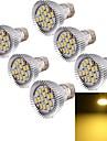 8W E26/E27 LED-spotlights MR16 15 SMD 5630 700 lm Varmvit Dekorativ AC 85-265 V 6 st
