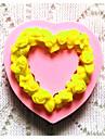 bakeware silikon hjärta bakformar för fondant godis chokladkaka (slumpmässiga färger)