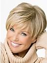 breve rettilineo capelli parrucche bionde con gli scoppi parrucche di capelli naturali per le donne