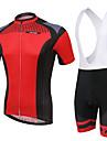 Cykeltröja med Bib-shorts Dam Kort ärm Cykel Andningsfunktion / Bärbar / 3D Pad / Back PocketBib Shorts / Tröja / Shorts / Cykeltröja +