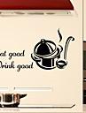 väggdekorationer väggdekaler stil äta god drink bra engelska ord&citerar pvc väggdekorationer