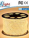 Mlight 10 M 72 leds/m 5050 SMD Varmt vit/Vit Vattentät/Klippbar 6 W Flexibla LED-ljusslingor AC110-220 V