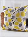 lantlig stil lövmönster bomull / linne dekorativa kuddöverdrag