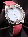 Women's round diamond alloy Dial Quartz Fashion flower  dress wrist  Watch Cool Watches Unique Watches