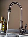 bronze huile contemporaine un trou poignee simple robinet de cuisine