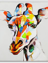 Oil Painting Giraffe Style , Canvas Material with Stretched Frame Ready To Hang SIZE:70*70CM.