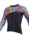 PALADIN® Cykeltröja Herr Lång ärm CykelAndningsfunktion / Snabb tork / Ultraviolet Resistant / Lättviktsmaterial / Back Pocket / Minskar