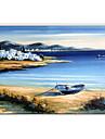 dipinti ad olio vista mare moderno, materiali tela con telaio teso pronto da appendere formato: 60 * 90cm.