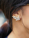 Cercei cu Clip Declaratie de bijuterii La modă Piatră Preţioasă Ștras Aliaj Auriu Argintiu Bijuterii Pentru 2pcs