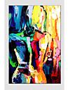 pintura a oleo figura de estilo moderno, material de lona, com quadro esticado pronto para pendurar tamanho: 60 * 90 centimetros.