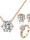 Set bijuterii Cristal Cristal Zirconiu Cubic imitație de diamant Aliaj Clasic Nuntă Petrecere Zilnic Casual 1set Coliere Σκουλαρίκια